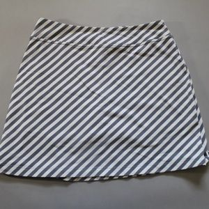 Athleta Gray and White Striped Skirt